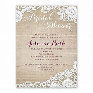 burlap and lace bridal shower invitation ann39s bridal With lace wedding shower invitations
