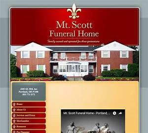 Awesome Funeral Home Website Design Gallery - Decoration
