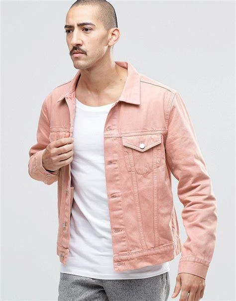 Weekday Single Denim Jacket White weekday single slim denim jacket pink s t y l e pink