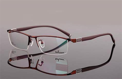 designer mens eyeglasses new designer mens eyeglass frames lightweight half rimless