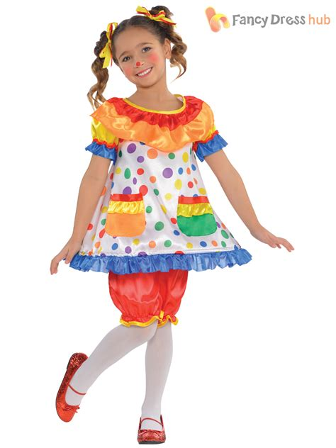 childs clown costume boys circus jumpsuit girls fancy