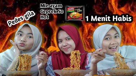Challenge Makan Mie Pedas Dalam Menit Indomie Ayam