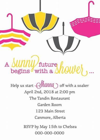 Shower Bridal Invitations Invitation Sample Umbrella Wording