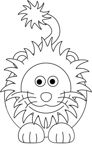 cartoon lion coloring page  printable coloring pages