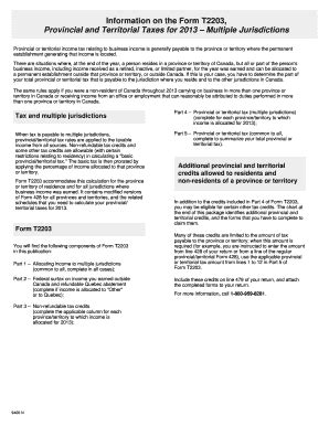 cra form t2036 fillable online information on the form t2203 provincial