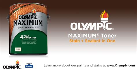stain sealant   toner olympic maximum