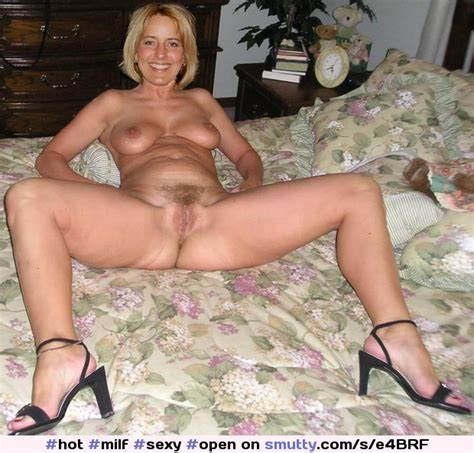 Hot Milf Sexy Open Pussy Legs Naked Shaved Blonde