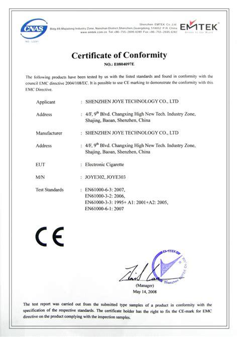 zertifikate joyetech schawenzl