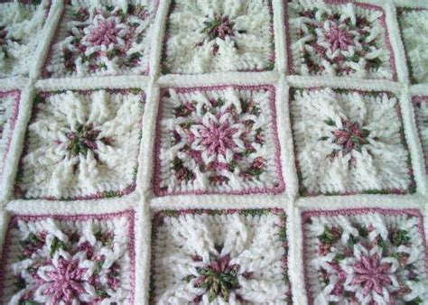 shabby chic crochet blanket pattern shabby chic rose garden crocheted afghan throw gardens