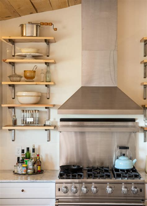 kitchen open shelves design photo page hgtv 5432