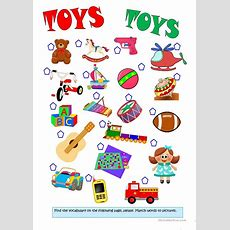Matching Toys  English Esl Worksheets