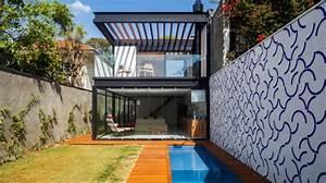 Maison Structure Métallique : maison contemporaine compacte avec couloir de nage ~ Melissatoandfro.com Idées de Décoration