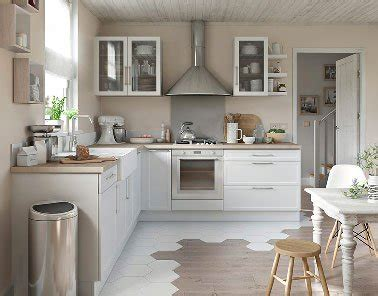 plan cuisine castorama charmante cuisine blanche et bois castorama
