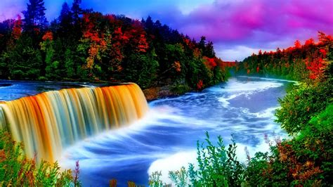 Beautiful Waterfall Wallpaper 1366768 Wallpapers