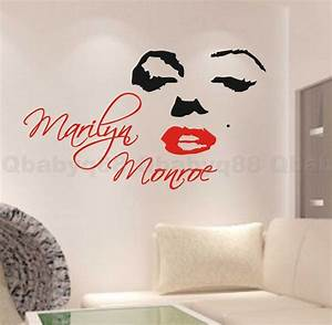 Marilyn monroe wall quote decal removable stickers decor