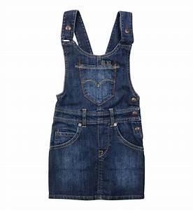 robe en jean levi39s en bleu pour fille galeries lafayette With robe jean levis