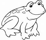 Frog Coloring Pages Theme Print sketch template