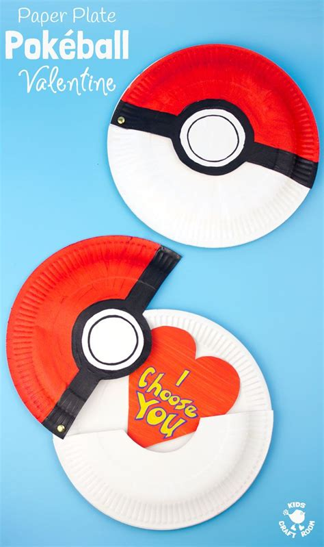 hinged paper plate pokeball craft kids craft room paper