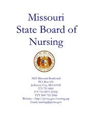 Below are the contact details for the state of mo department of insurance. Missouri State Board of Nursing Fiscal Year 2012 Annual Report : Missouri Department of ...