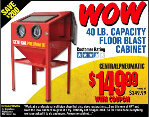 Harbor Freight Blast Cabinet by Blast Cabinet Really A Deal Non Tractor Related