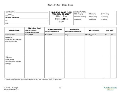 blank nursing care plan templates google search