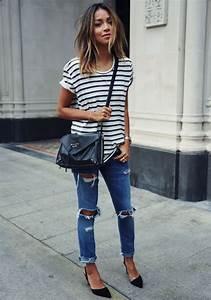 21 Looks Lindos com Jeans e Listras | It Yourself