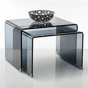 Table De Salon La Redoute : table basse verre tremp fum joan lot de 2 la redoute interieurs prix avis notation ~ Voncanada.com Idées de Décoration