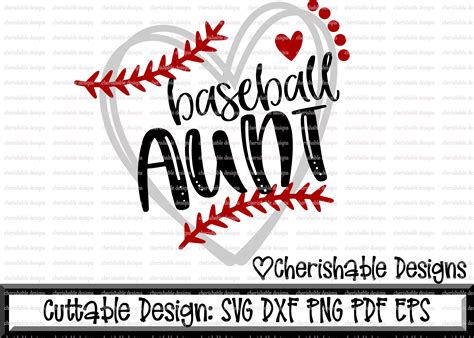 baseball svg baseball aunt svg baseball cutting file heart frame baseball dxf pattern svg
