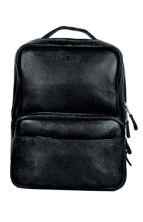 Cowhide Leather Quality black cowhide leather backpack by aston american made quality