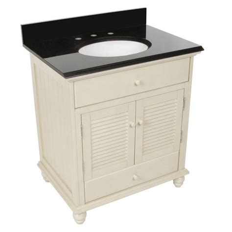 31 granite vanity top with foremost cottage 31 in w x 22 in d vanity in antique