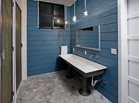 tribeca loft industrial bathroom  york
