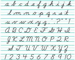 cursive alphabet dr odd With cursive letters and numbers
