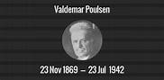 Valdemar Poulsen death anniversary