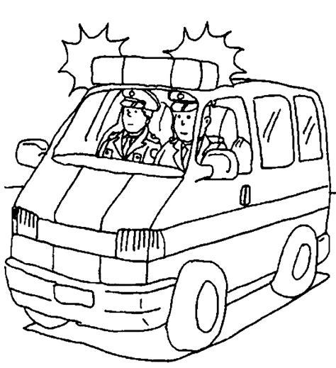 ausmalbilder polizeiauto kostenlos malvorlagen zum