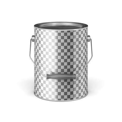 This mockup is available for purchase only on yellow images. Metal Paint Bucket Mock-Ups on Behance