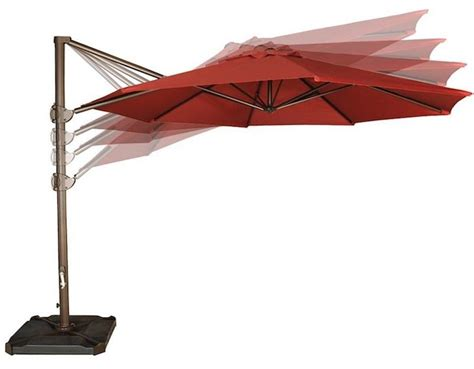cantilever patio umbrella offset abba base outdoor ft cross hanging umbrellas foot feet tips tub bases guide buying