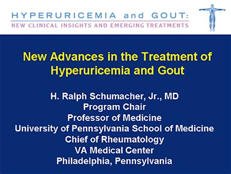 hyperuricemia  gout  clinical insights  emerging