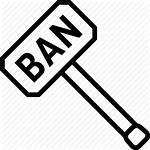 Ban Hammer Icon Moderator Banhammer Censor Censorship