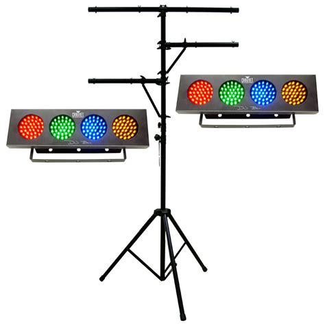 dj light stand 2 dj bank multi color led effect chauvet light