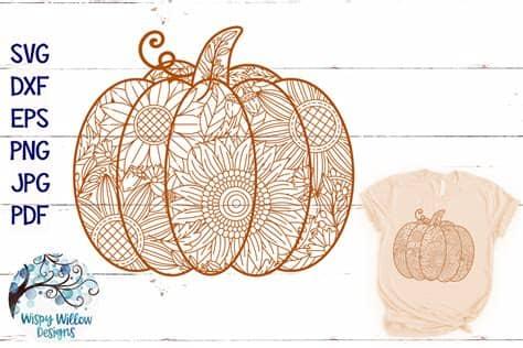 A pattern is not always a tangle. Pumpkin Zentangle SVG   Pumpkin Mandala SVG   Fall SVG ...