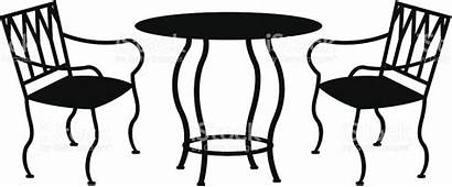Patio Furniture Vector Iron Wrought Chair Clipart