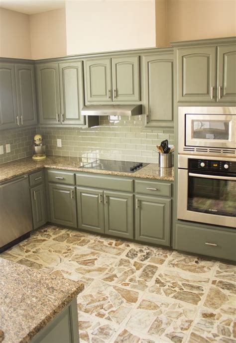 exciting kitchen makeover    green