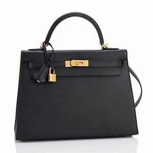Hermes Kelly Bag 32cm Black Epsom Gold Hardware | World's Best  Hermes