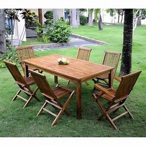 Salon Jardin Teck : salon de jardin en teck huil ensemble de jardin pas cher ~ Melissatoandfro.com Idées de Décoration
