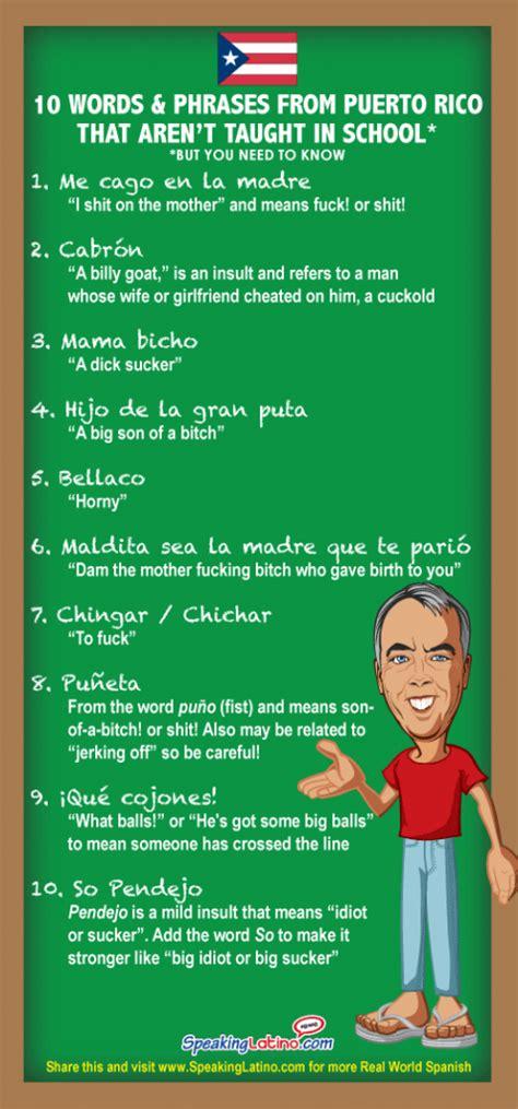 infographic  vulgar spanish slang words  phrases