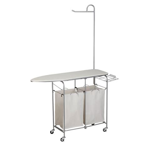 portable ironing board cabinet honey can do foldable ironing laundry center and valet srt
