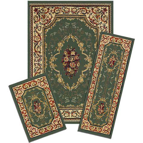 capri  piece rug set wrought iron medallion walmartcom