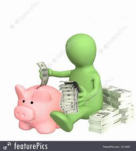 Picture Of Saving Money In Piggy Bank