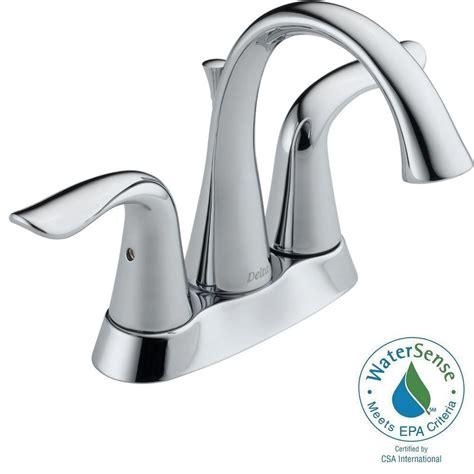 delta lavatory faucet 2538 delta lahara 4 in centerset 2 handle bathroom faucet with