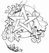 Wiccan Drawing Getdrawings sketch template